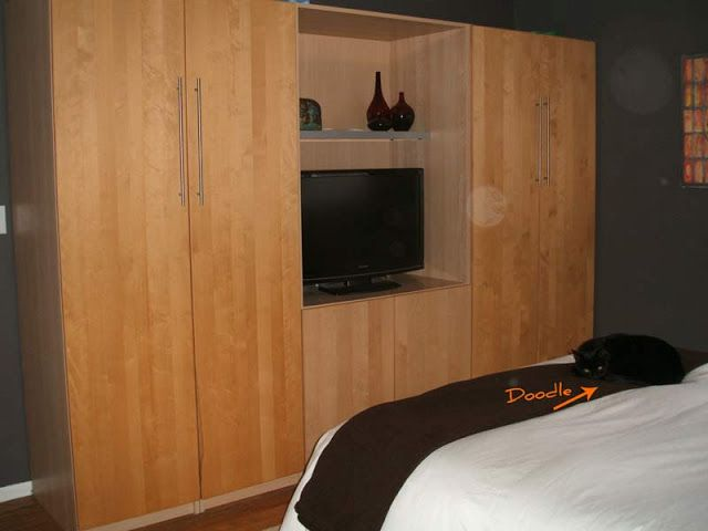 Bedroom Malm Nightstand And Pax Tv Stand Hack For The