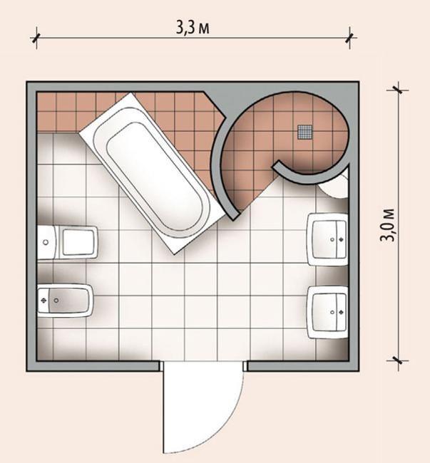 Personalisiertes modernes Badezimmer-Design geschaffen durch ergonomisches, Platz sparendes Layout
