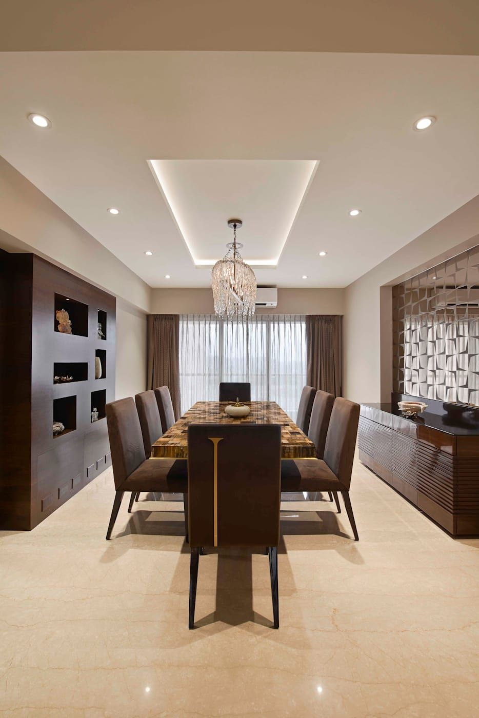The Warm Bliss Minimalist Dining Room By Ar Milind Pai Minimalist