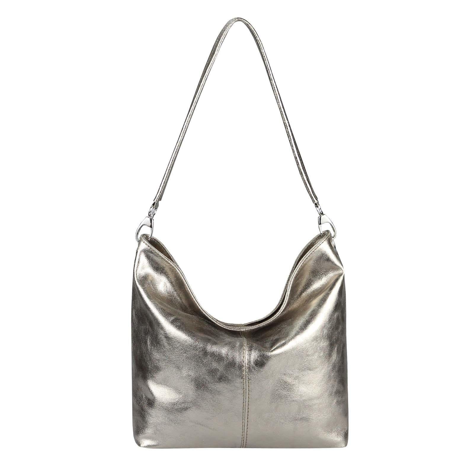 Shopper Handtasche Hobo Obc Made Leder Tasche Italy Damen In