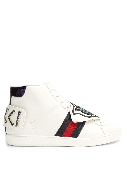 e7cf5f0b86d GUCCI New Ace High-Top Leather Trainers.  gucci  shoes  sneakers ...