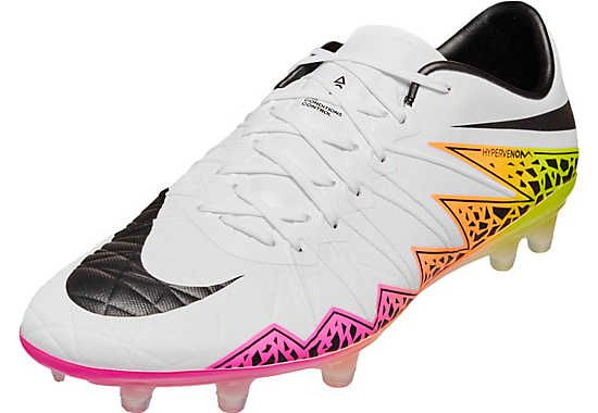 new style a3e2d 7551c Nike Hypervenom Phinish FG Soccer Cleats - White   Total Orange    SoccerMaster.com