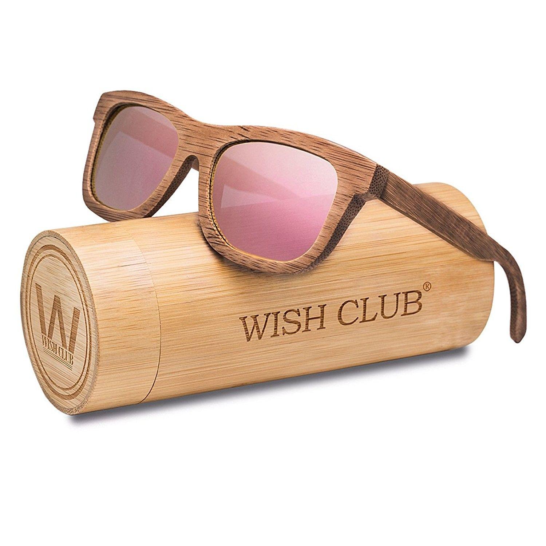 d553798e60489 Bamboo Wood Handmade Sunglasses Retro Polarized UV 400 Fashion Glasses -  Pink - CI183336DEM - Men s Sunglasses