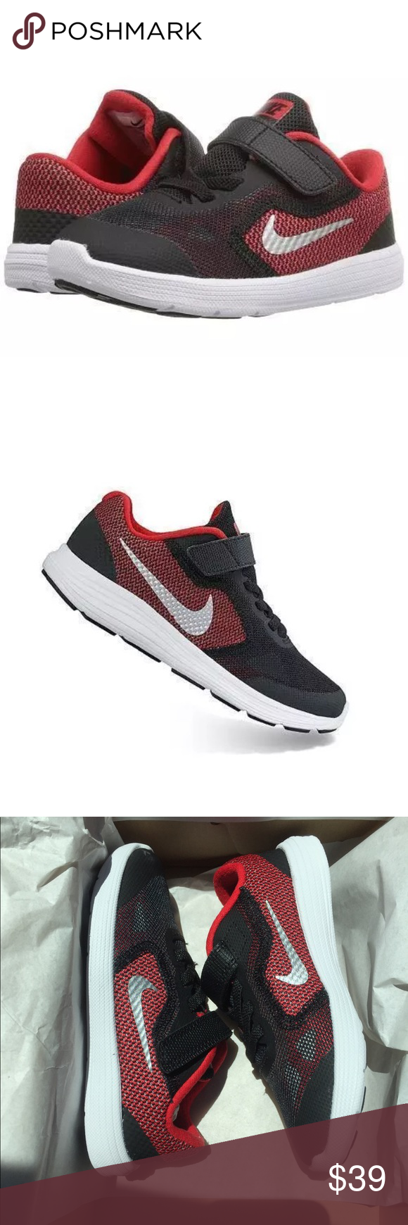 super popular 99e30 85a59 Nike Toddler Boys Revolution 3 Red Black Sneakers New in box. Nike model  819415-600 Nike Shoes Sneakers
