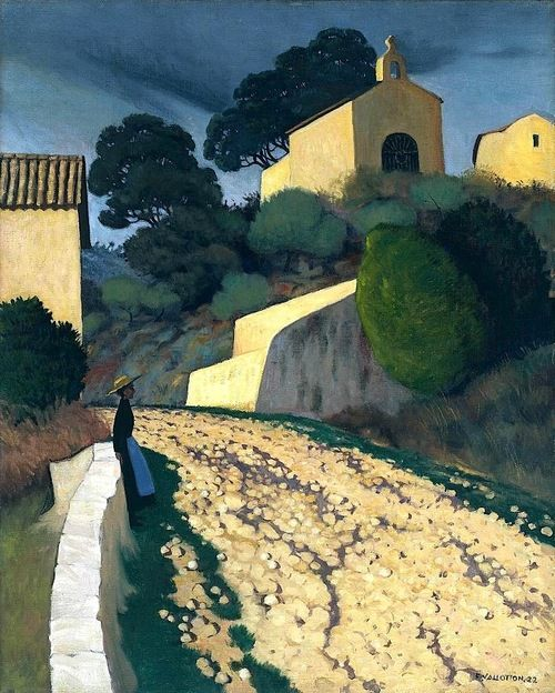 Felix Edouard Vallotton Swiss 1865 1925 Road At St Paul Var 1922 Landscape Art Landscape Paintings Landscape
