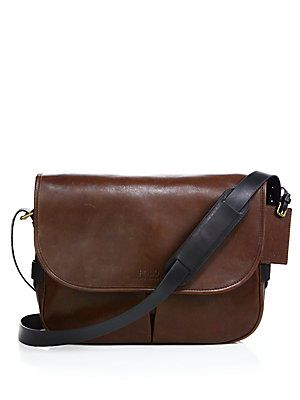 a83459a4aa40 Polo Ralph Lauren Leather Messenger Bag