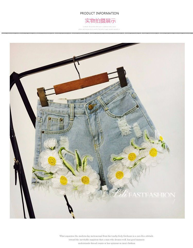 673095a33e Buy Apalili Embroidered Denim Shorts | [ Summertime Clothes ...