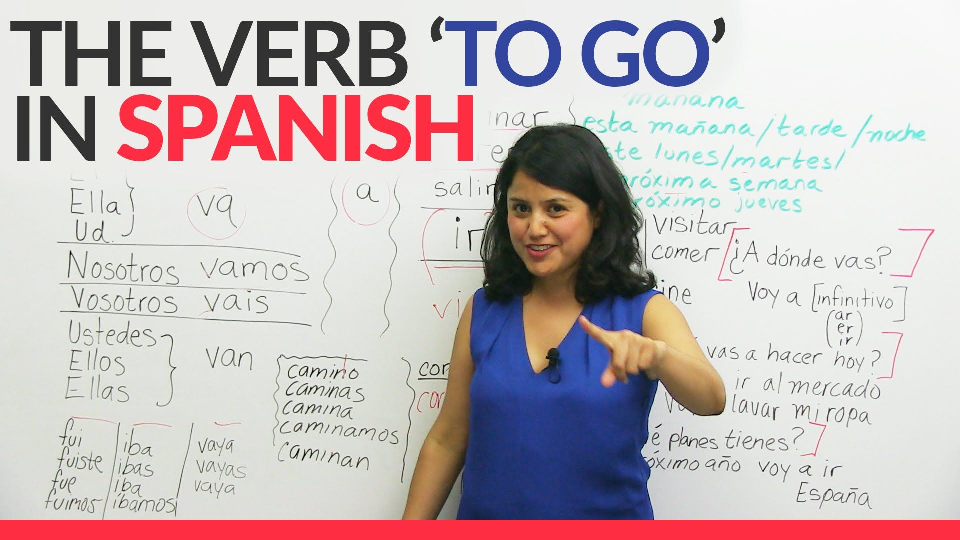 Learn Spanish The Verb To Go In Spanish Made Easy