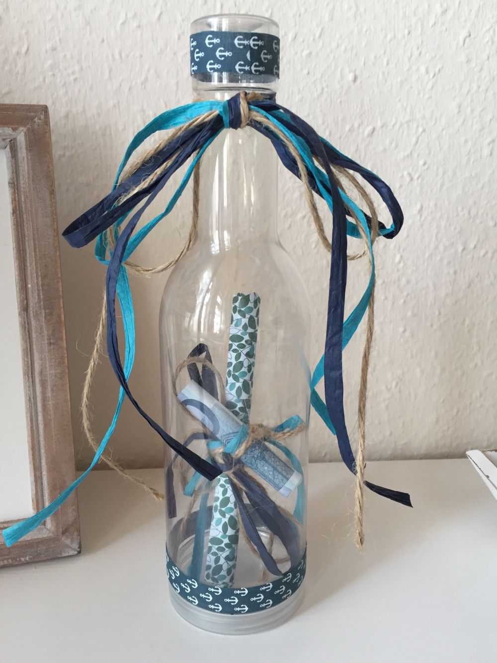 Geldgeschenk Flaschenpost Zum 50 Geburtstag Geburtstagsgeschenk