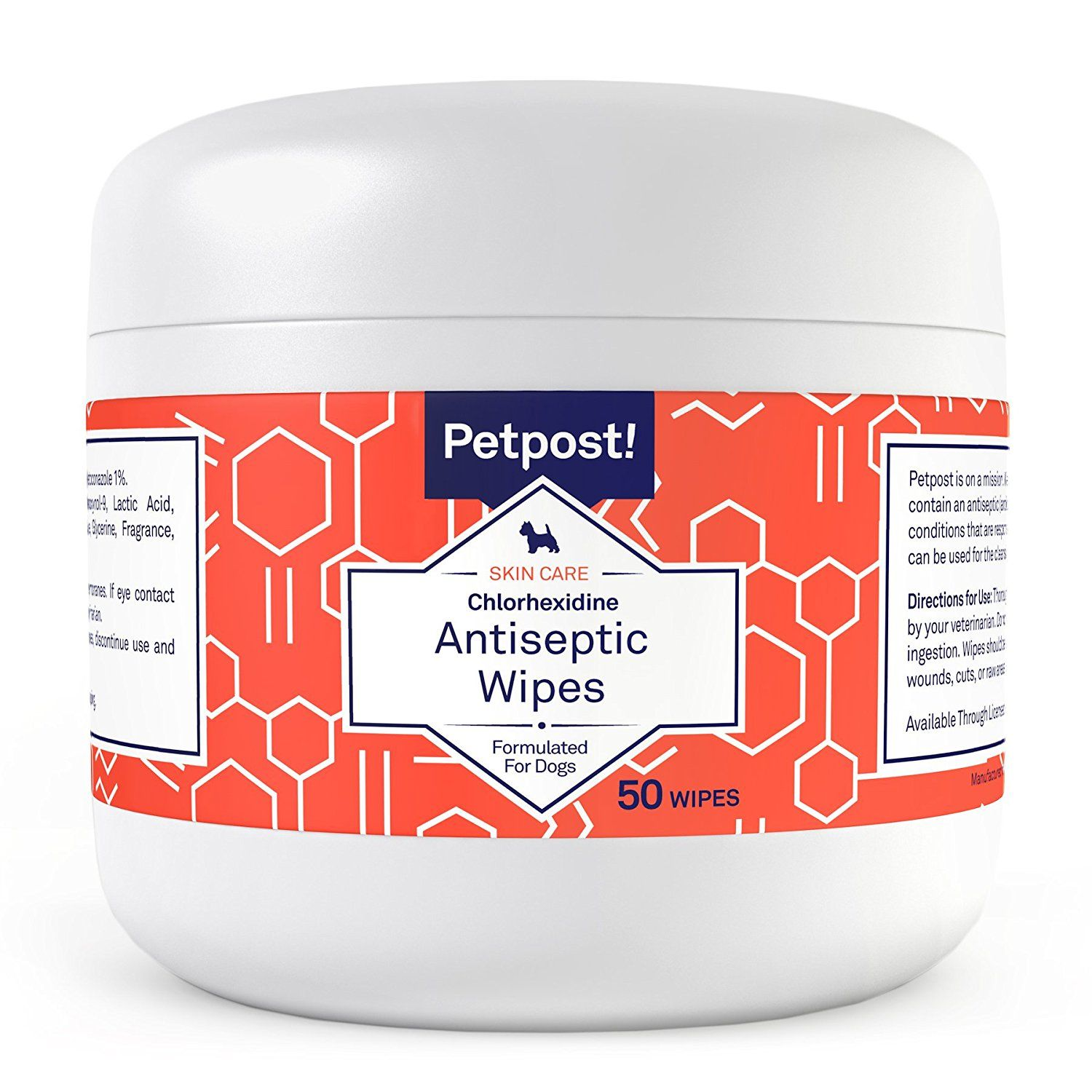 Petpost Chlorhexidine Wipes 50 Antiseptic Wipes for