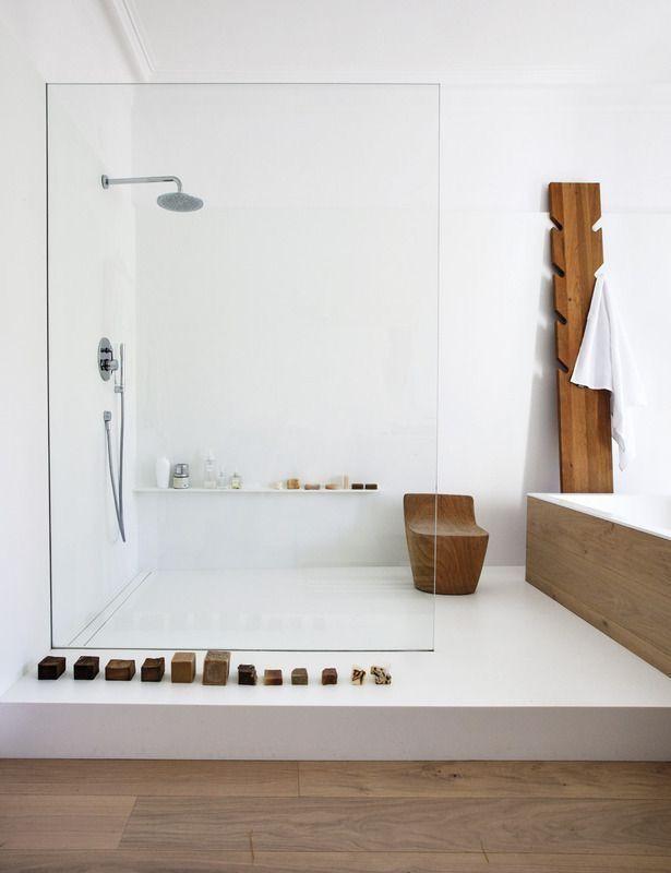Photo of Minimalist white and wood bathroom decor ideas