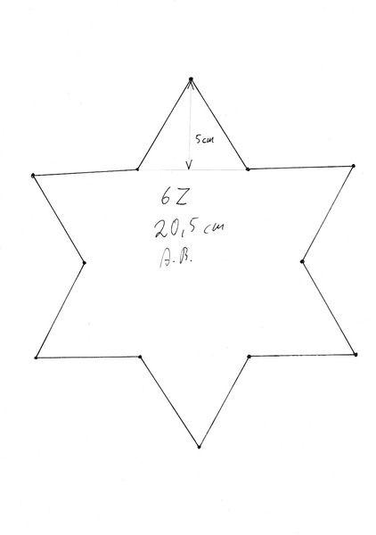 Stern Vorlage 6 Zacken 01 Sterne Zum Ausdrucken Vorlage Stern Malvorlagen