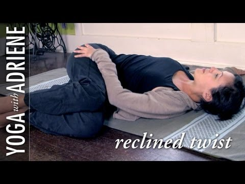 44 reclined twist yoga pose  yoga with adriene