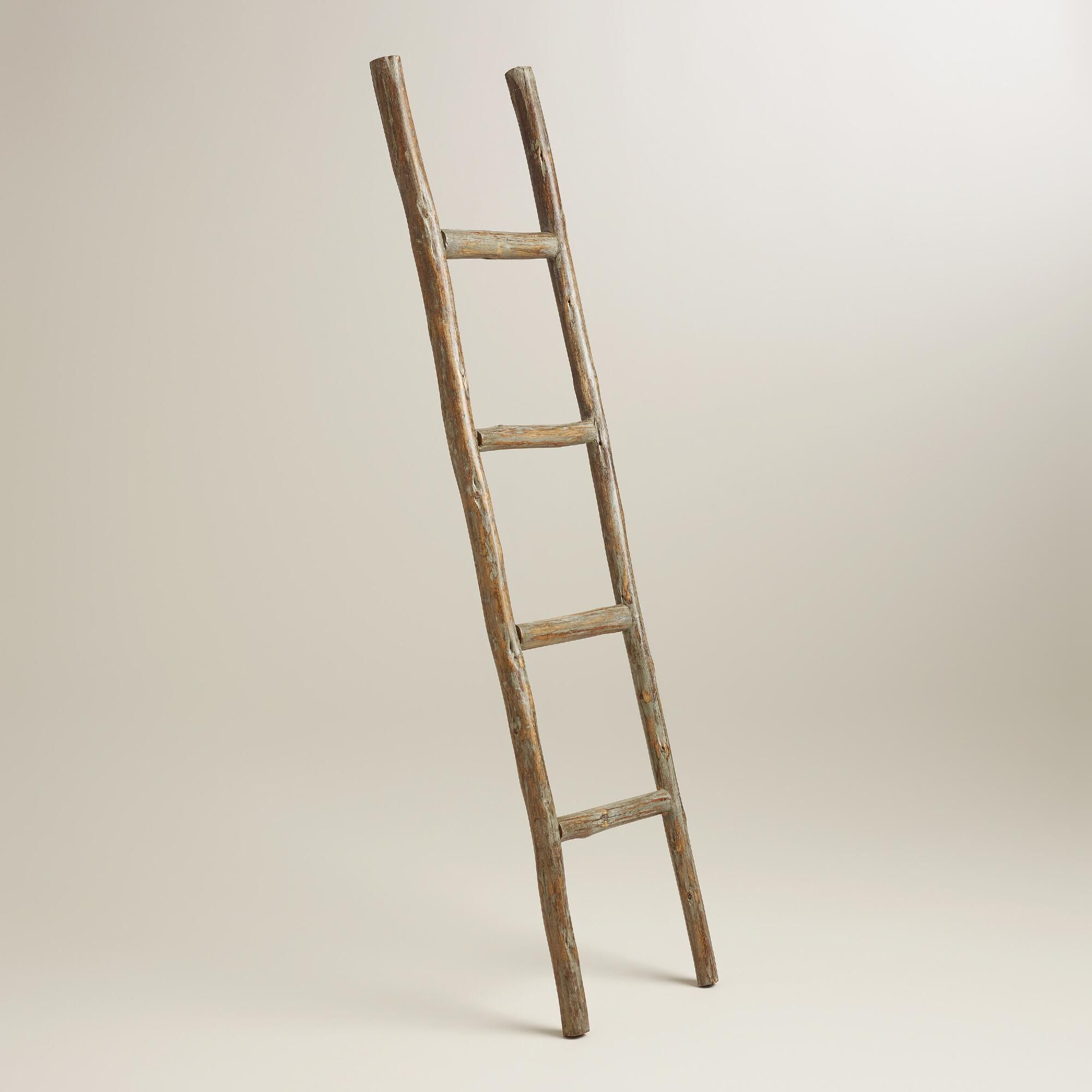 Crafted Of Wood, This Decorative Ladder Adds Interest To Any Room. Lean It  Against