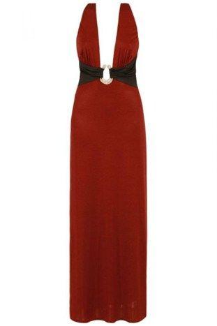 Rød Maxi kjole