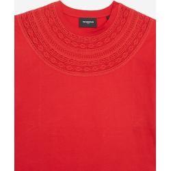 Photo of Die Kooples – rotes Baumwoll-T-Shirt mit gestickter Vorderseite – Herrenthekooples.com
