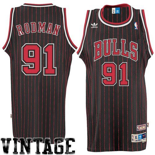 dfb5aa39877 adidas Dennis Rodman Chicago Bulls Soul Swingman Throwback Jersey - Black