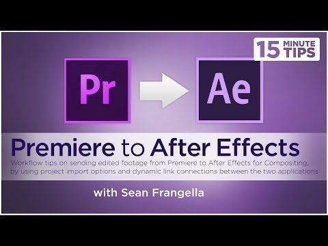 How To Send Link Premiere After Effects Projects Adobe Ae