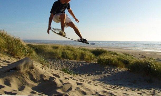 Master the world's first sandboarding Park (Sand Master Park at the Oregon Dunes).