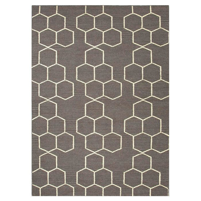 Love The Balance Of Pattern In This Honeycomb Rug Grey Wool Rugs Flat Weave Rug Jaipur Rugs
