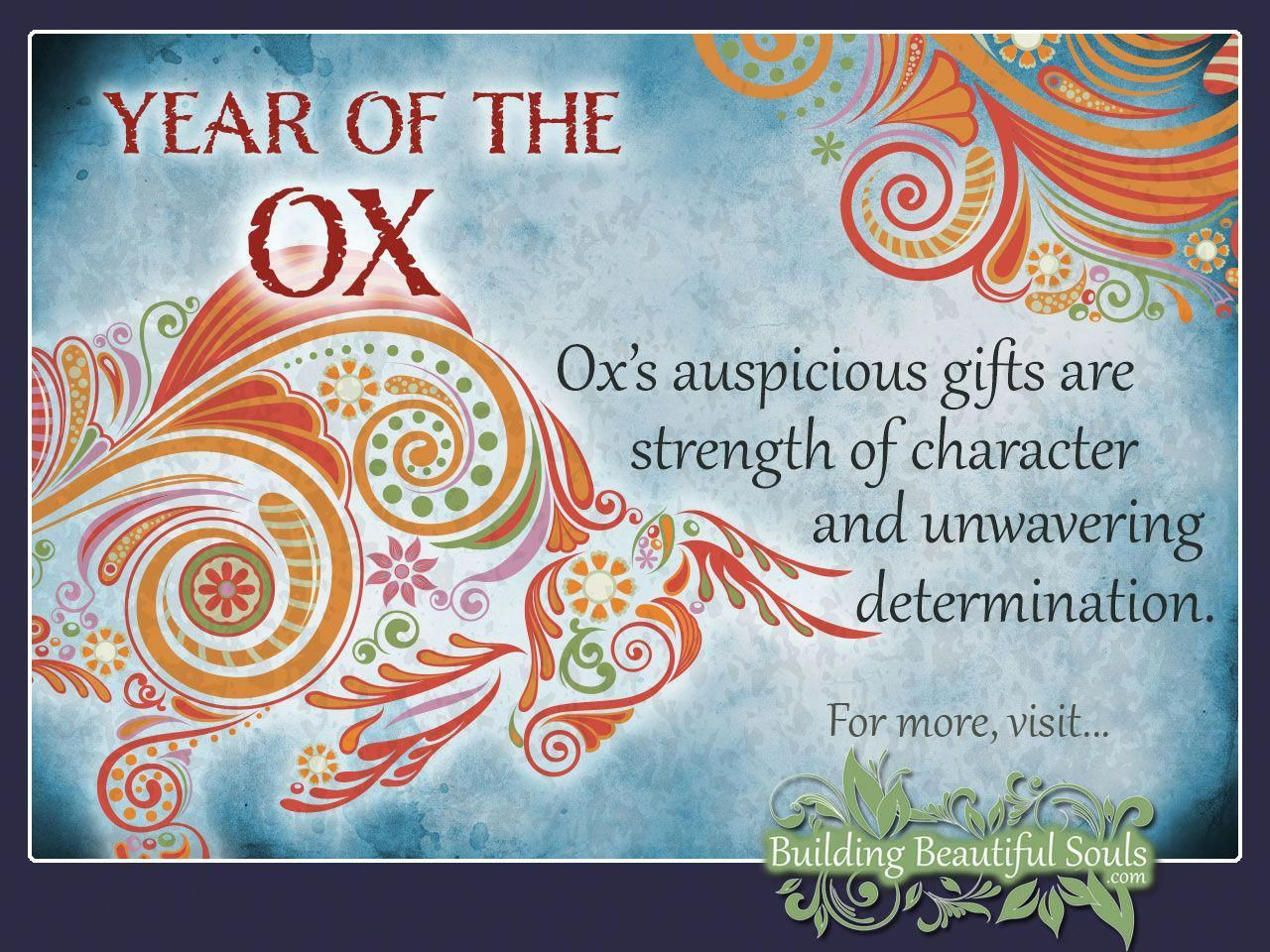 Chinese Zodiac Ox Years Are 1949 1961 1973 1985 1997 2009 2021 2033 Get In Depth Info On The Year Chinese Zodiac Signs Ox Chinese Zodiac Chinese Zodiac