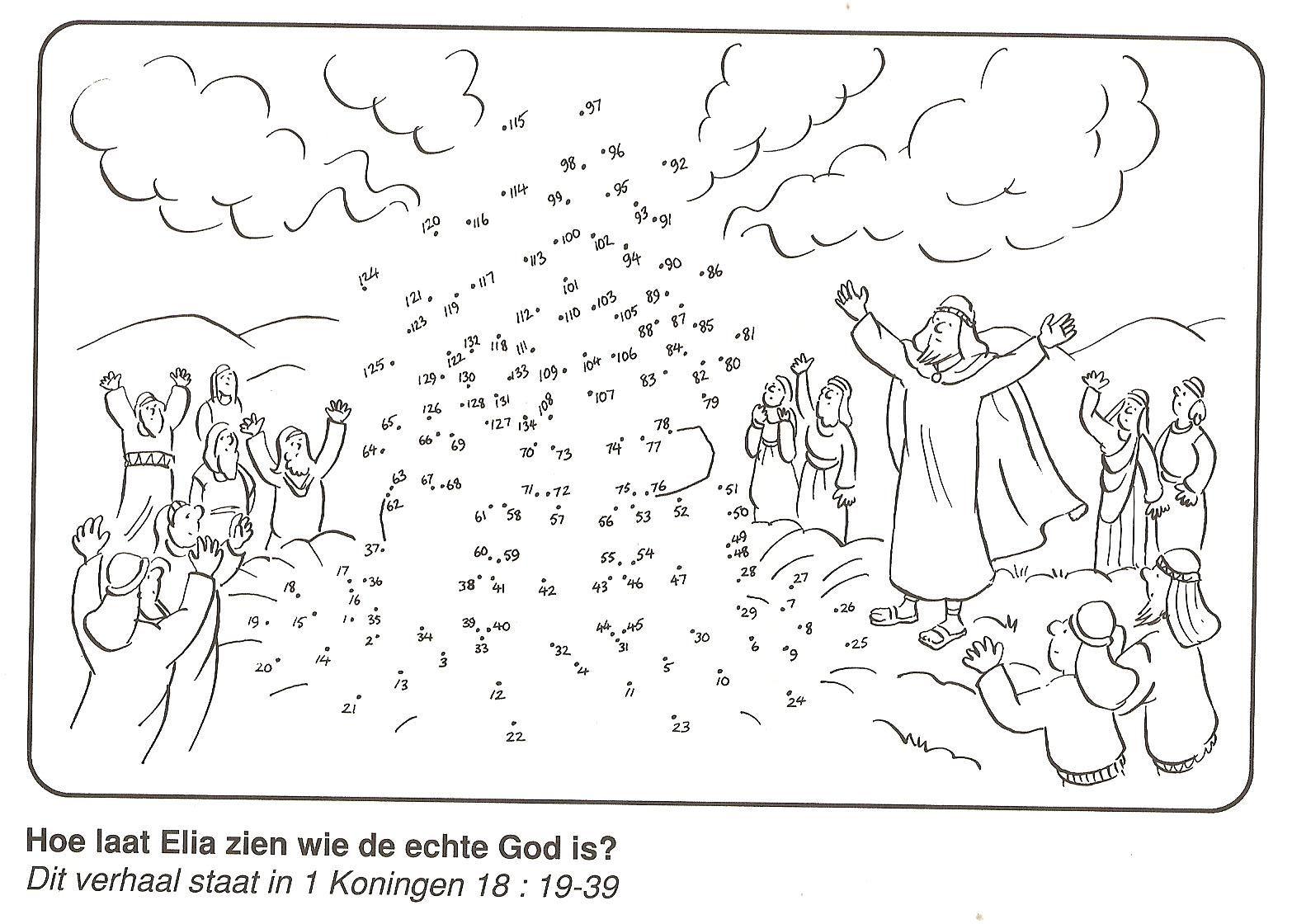 Elijah At Mt. Carmel Dot To Dot