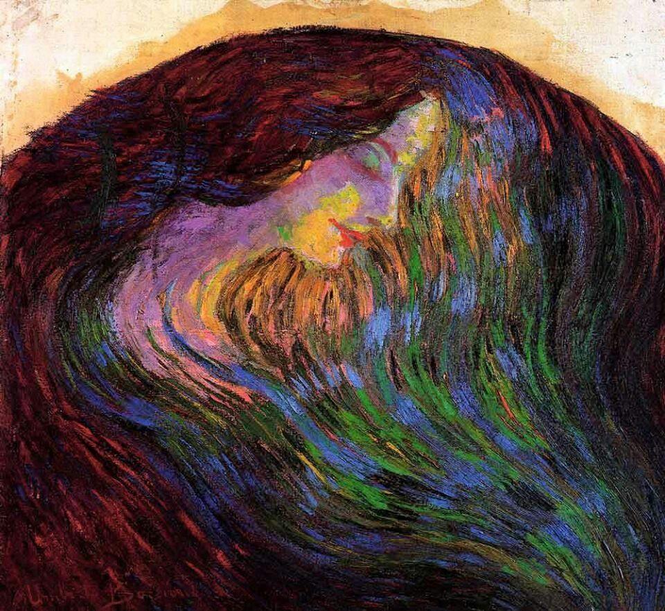 Umberto Boccioni - Studio di volto femminile (Study of a Female Face, 1910)