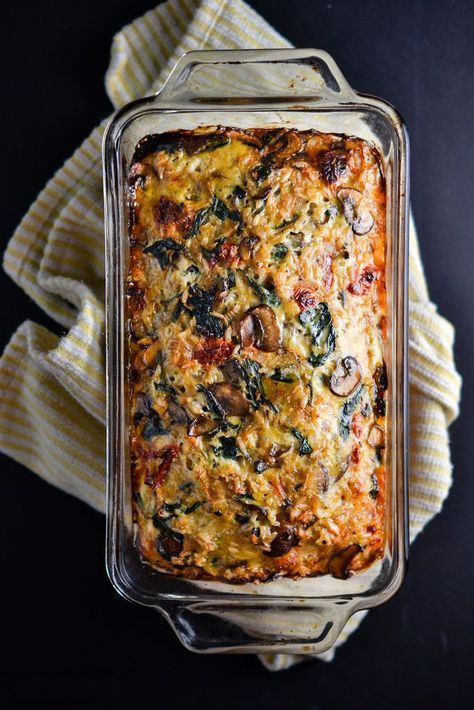 Mushroom, Spinach, and Brown Rice Loaf - Things I