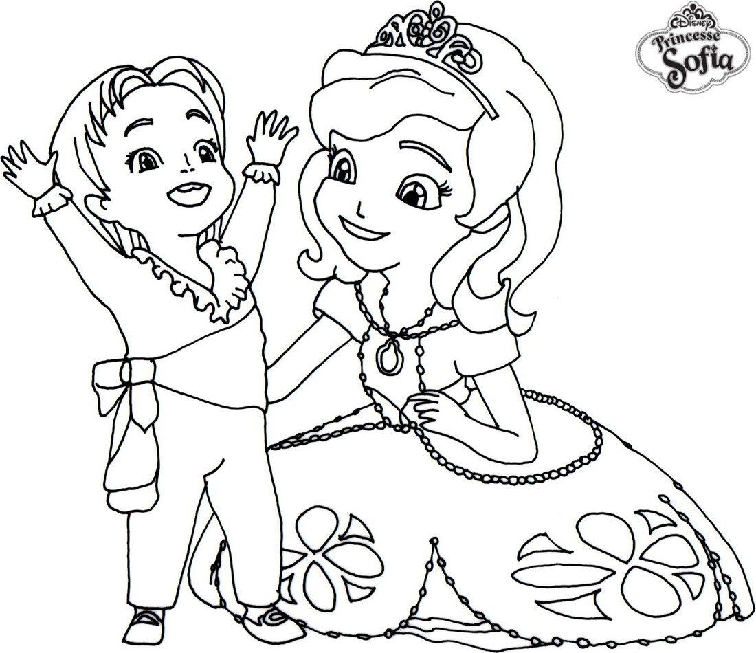 19 dessins de coloriage Princesse Sofia  imprimer