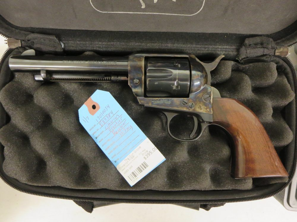 Used Cimarron Frontier .357 Mag w/ case $395 - http://www.gungrove.com/used-cimarron-frontier-357-mag-w-case-395/