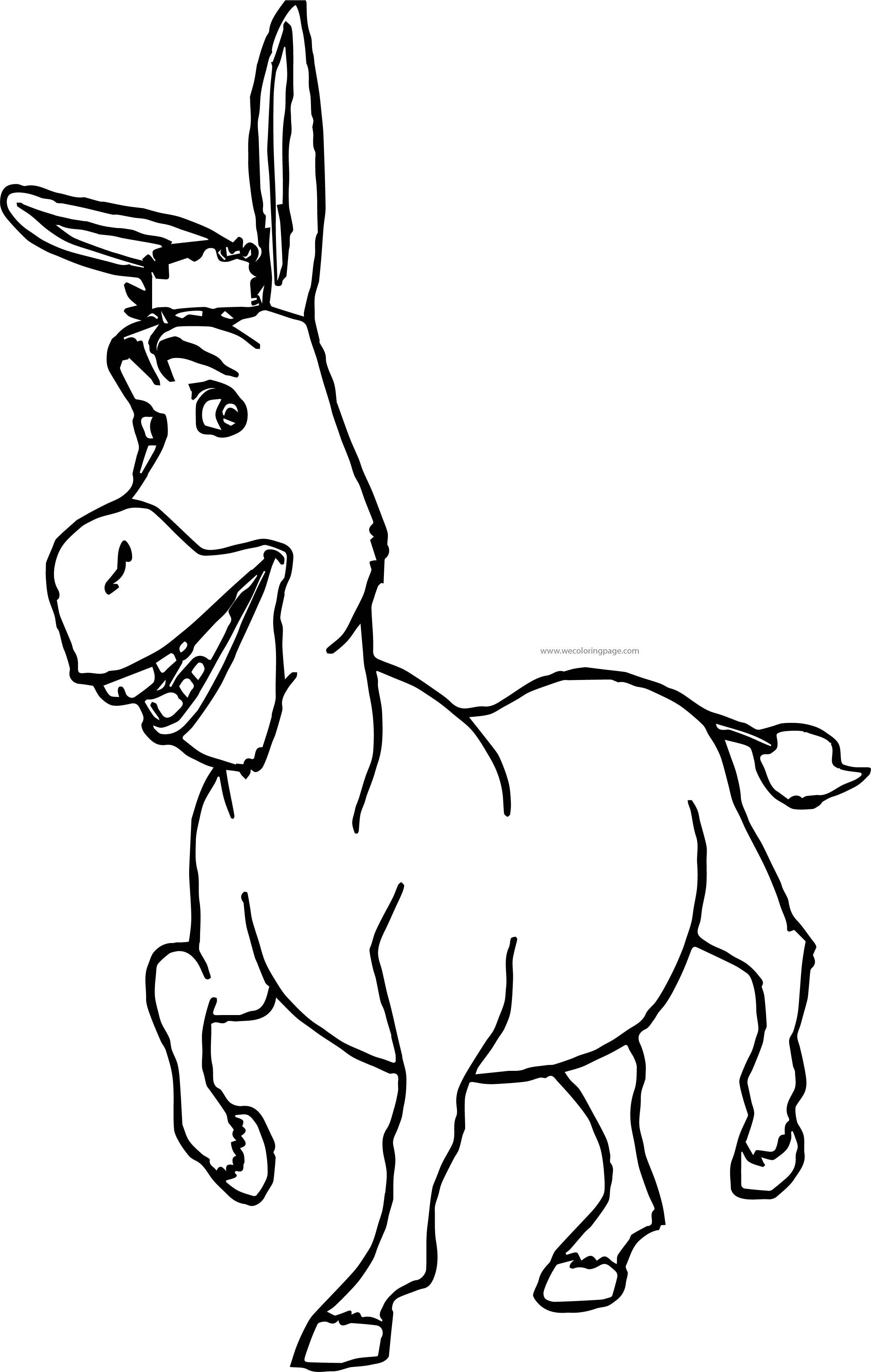 Pin by Wecoloring Page on wecoloringpage | Pinterest | Shrek donkey