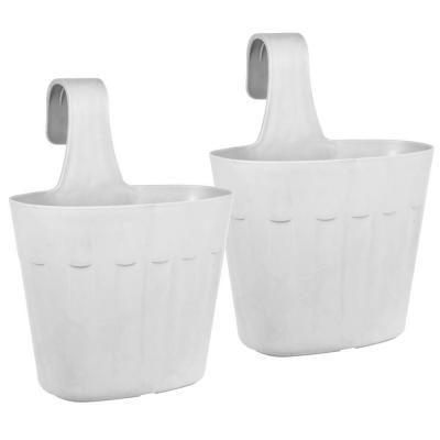 Pride Garden Products Mela 8.75 in. White Plastic Saddlebag ... on home depot pedestals, home depot gardening supplies, home depot artificial topiary, home depot garden, home depot waste baskets, home depot bowls, home depot trays, home depot flower pots, home depot plants, home depot column caps, home depot yard stakes, home depot flower specials, home depot decorative pebbles, home depot outdoor storage benches, home depot summer houses, home depot tide, home depot outdoor candles, home depot laundry baskets, home depot 5 gal pots, home depot outdoor rooms,