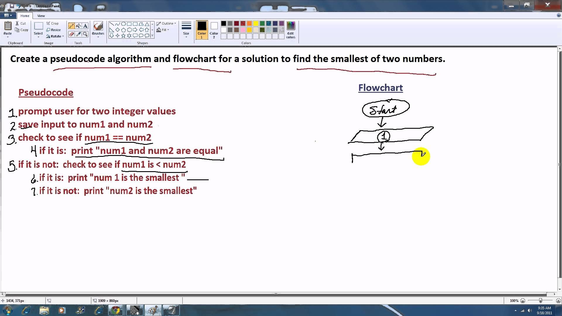 Pseudocode and Flowchart   Flow chart, Algorithm, Computer ...