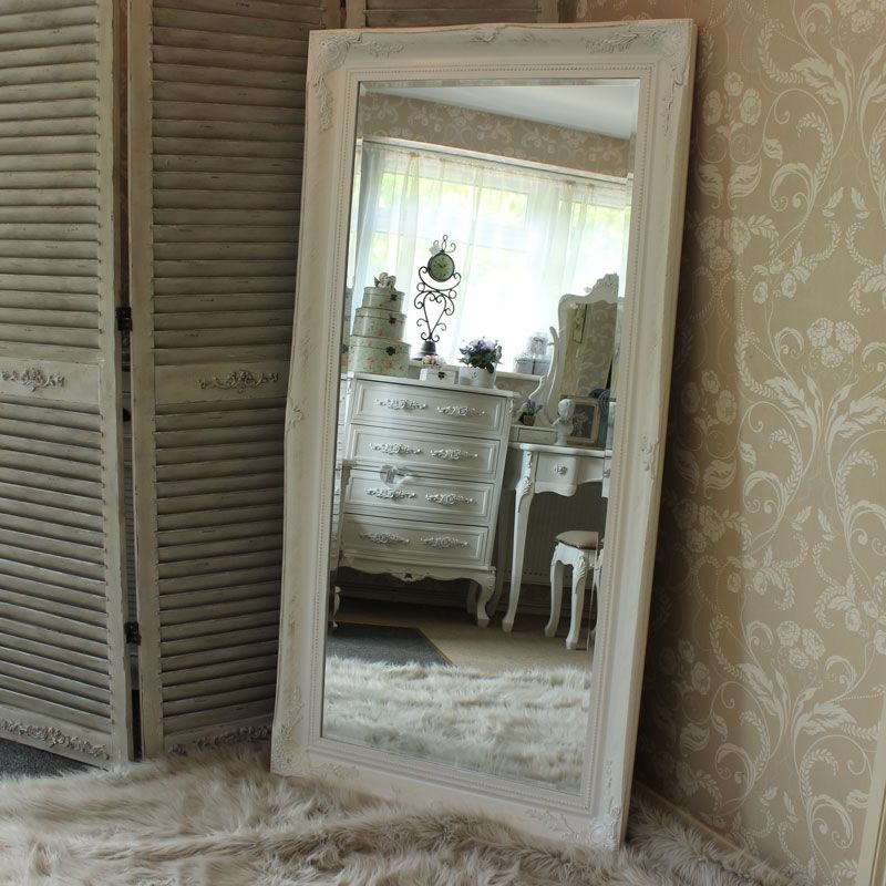 Extra Large White Ornate Wall/Floor Mirror 158cm x 78cm | Large ...