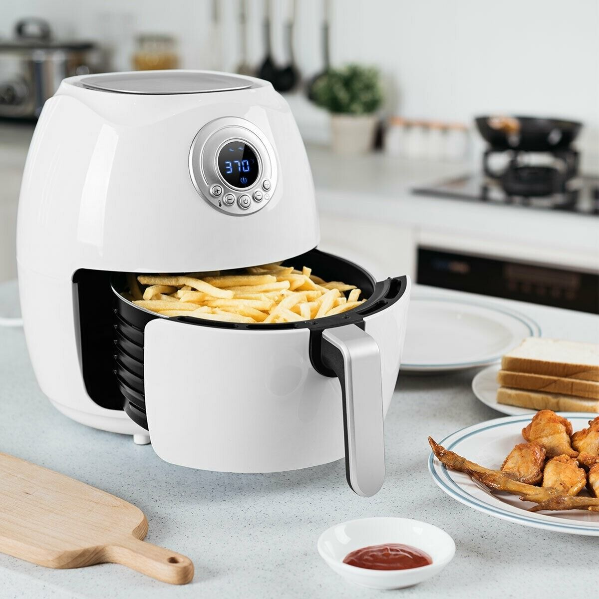 Hot Air Fryer Oilless with Lcd Screen Timer & Temperature