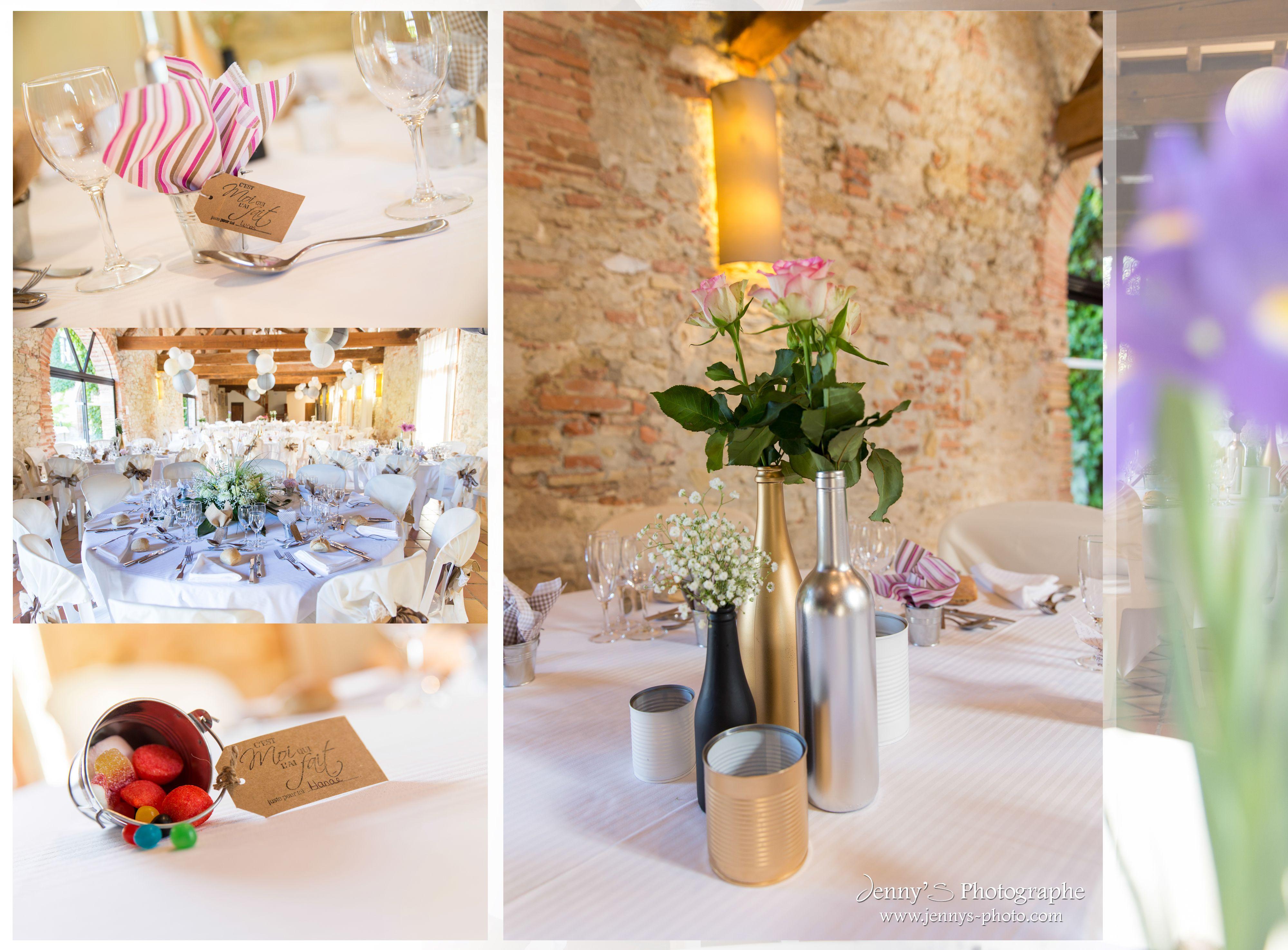 d coration mariage fleur fraiches noir blanc et dor mariage theme glamour campagne chic. Black Bedroom Furniture Sets. Home Design Ideas