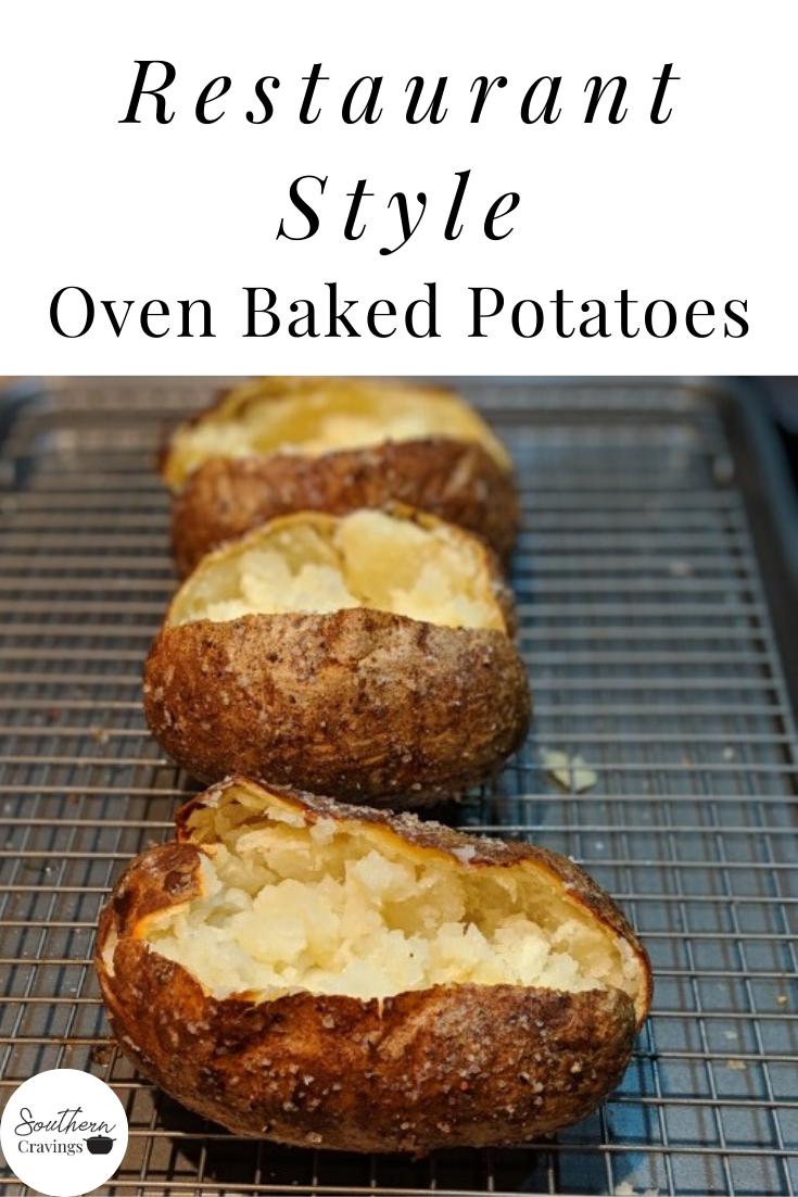 Crispy Baked Potatoes Recipe Crispy Baked Potatoes Baking Baked Potato Oven