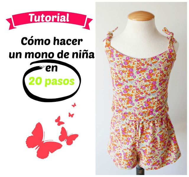 Patrón de costura para hacer un mono para niña ideal para el verano ...