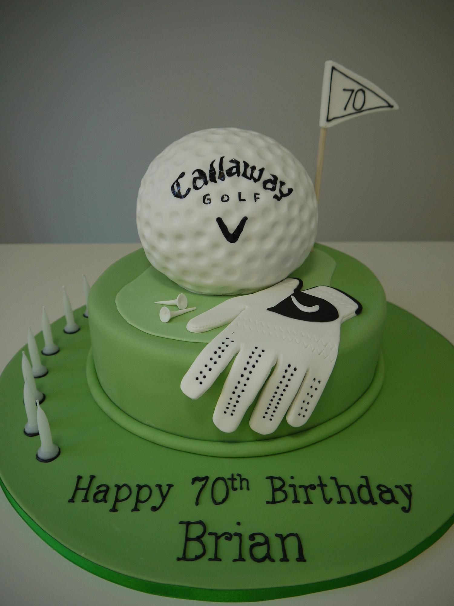 golf cakes Adult Birthdays Themed change to Titleist Cake