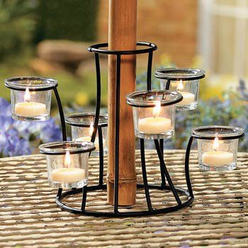 Tealight Candle Holder Around Umbrella   Google Search