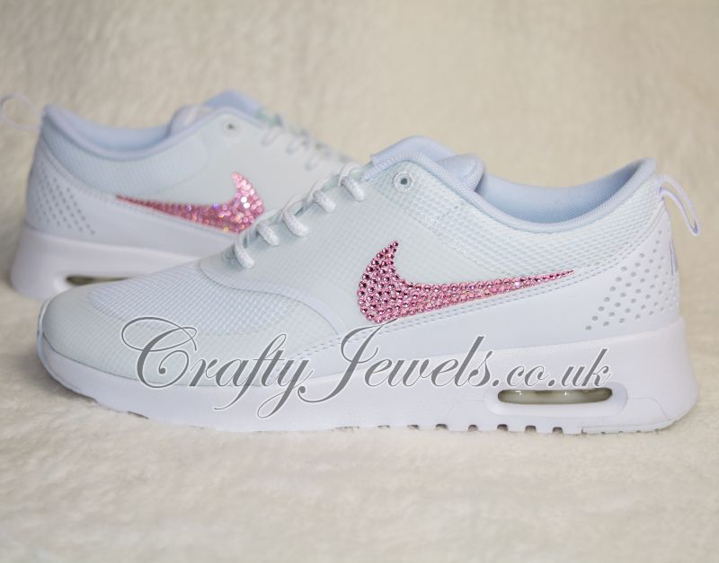 Crystal Nike Air Max Thea Trainers in White 479c9b2b8acb