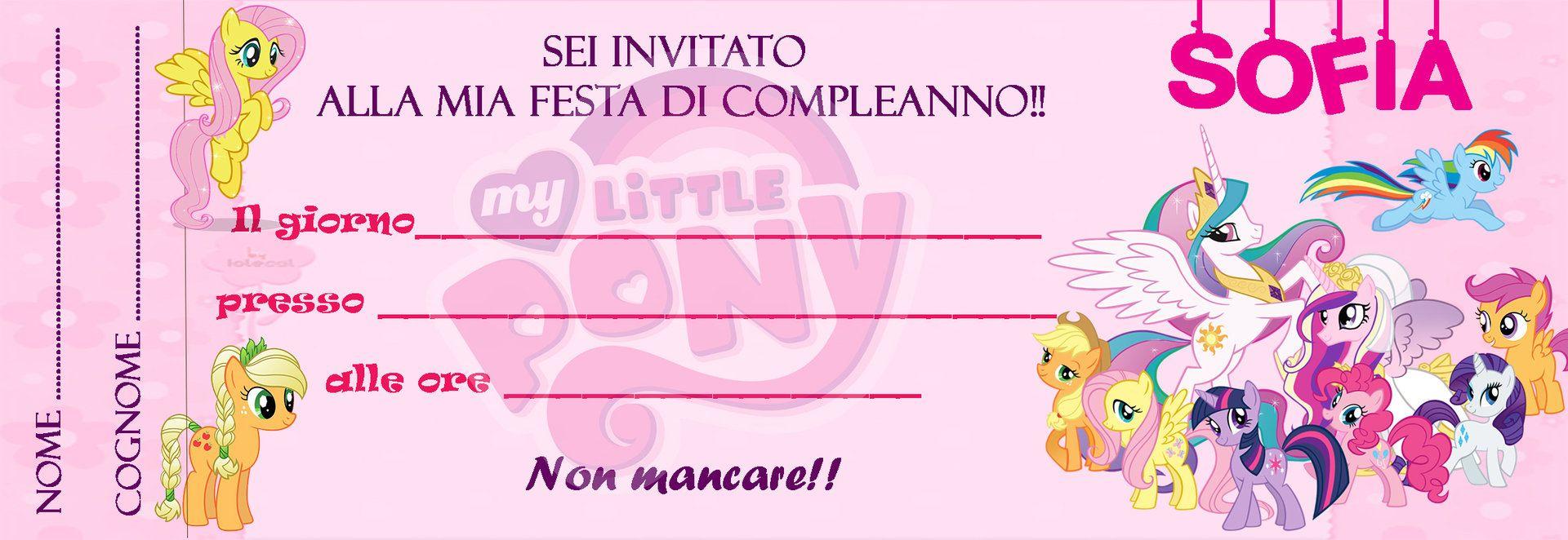 Inviti My Little Pony Inviti Per Feste Personalizzabili