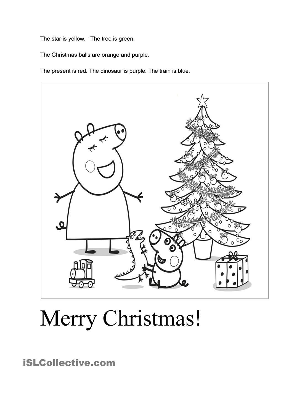 Peppa pig\'s Christmas worksheet - Free ESL printable worksheets made ...