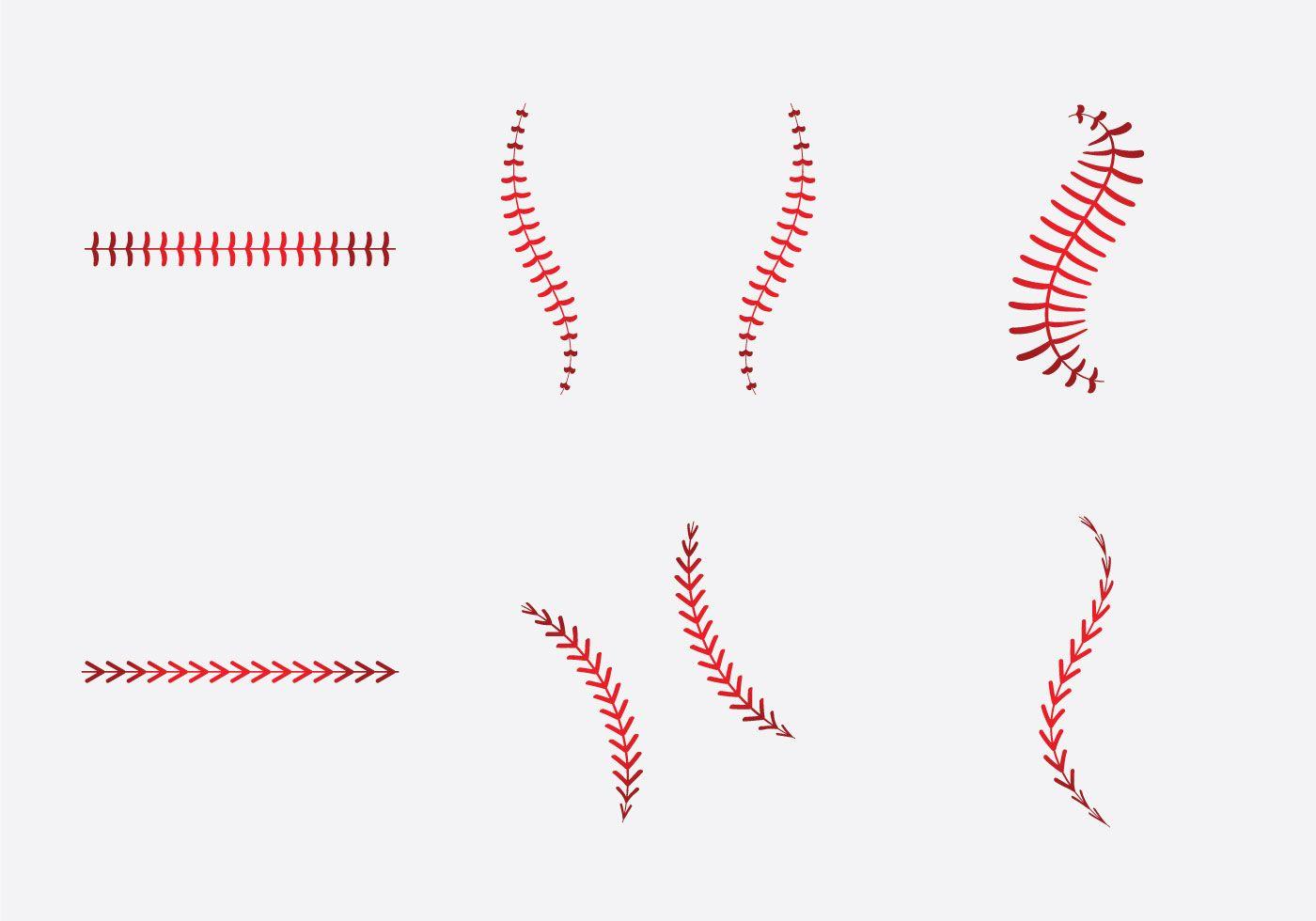 Free Baseball Laces Vector Illlustration Baseball Fonts Free Baseball Svg Baseball Stitch