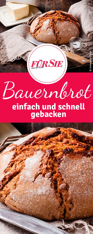 Bauernbrot - einfach und schnell gebacken
