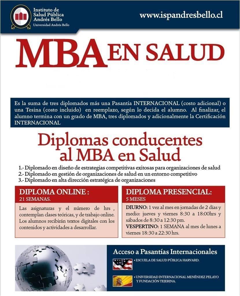 MBA CON ESPECIALIZACIÓN EN SALUD: INFORMACIÓN Y MATRICULA A ...