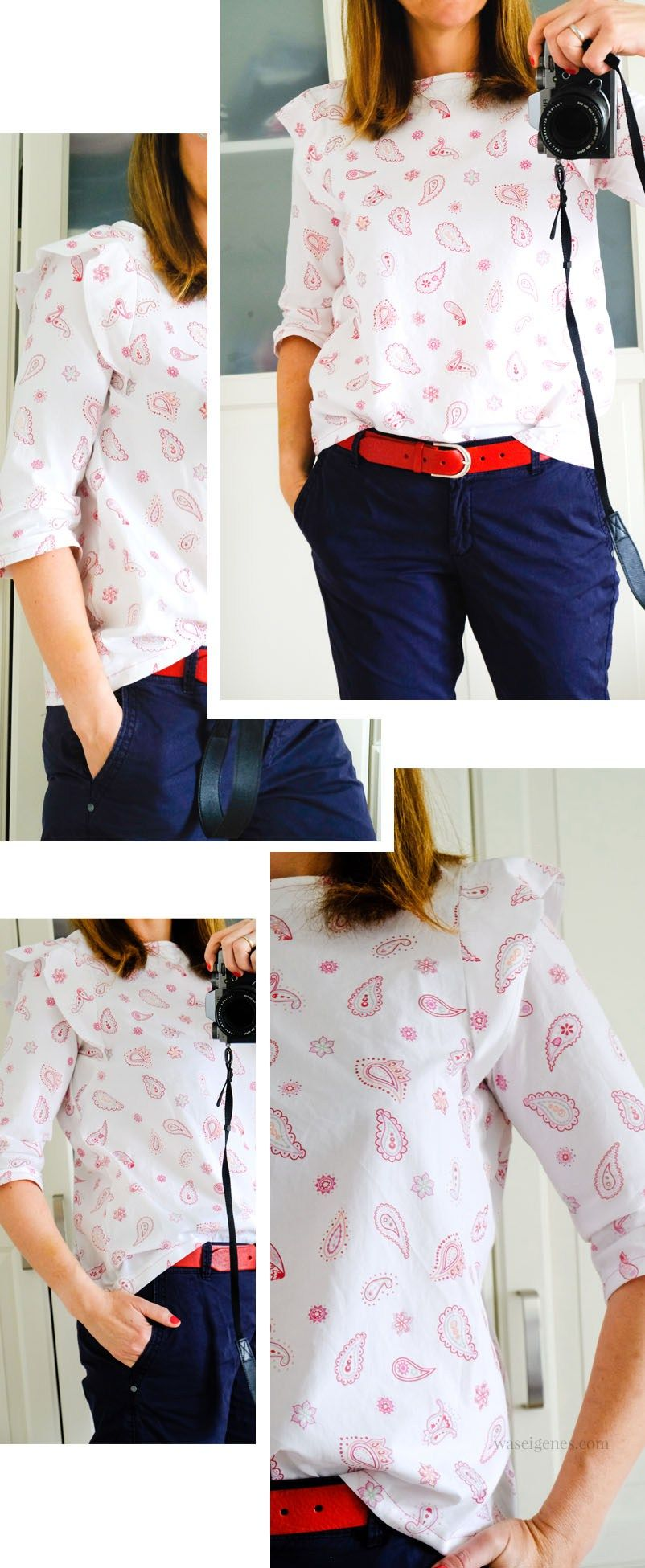 Diy Bluse Selbst Genahte Bluse Schnittmuster Frau Smilla Waseigenes Com Bluse Schnittmuster Schnittmuster Frauen Bluse Nahen