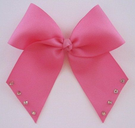 bright pink cheer bow cheerleading