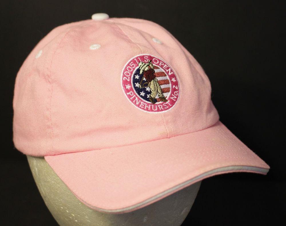 e89f89f18a7 US Open Championship Golf Hat Cap Strapback Adjustable Pink Garb Girl  Pinehurst  Garb  Golf