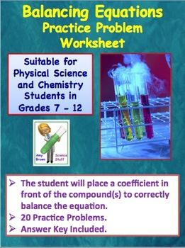 Balancing Chemical Equations With Images Teaching Chemistry